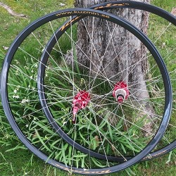 CX 24 mm wide (ISO 622 mm) wheelset (QR 9 and 10 mm)